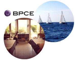 25 SENS a monté un stand de massages bien-être lors du Challenge voile du Groupe bancaire BPCE.