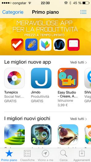 Jimdo-App fra le migliori app nell'AppStore