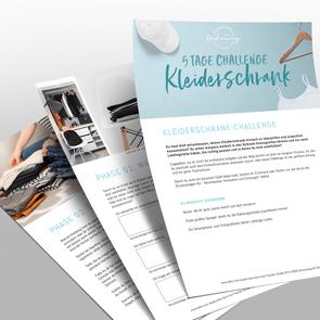 Kostenlose Kleiderschrank-Challenge