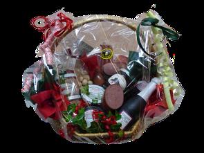 Bild: Geschenkkörbe, Wurstpräsente, Wurstgeschenke, Geschenke aus Wurst, Schenken macht Freude, Öpfingen, Wurst online bestellen, Original Öpfinger Schwarzwurst, Schwarzwurst