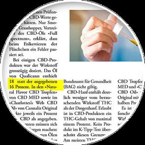 K tipp CBD Öl Test Qualicann das günstigste und höchst dosierte Bildausschnitt