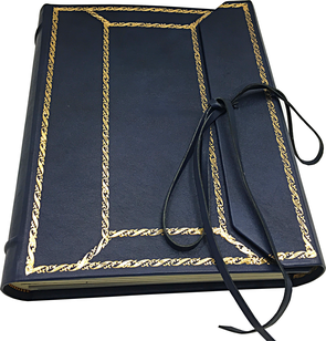 Leather album photo gold print conti borbone