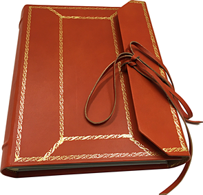 Leather photo album luxury