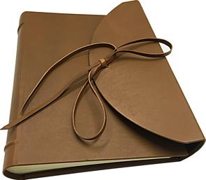 leather photo album flap conti borbone luxury