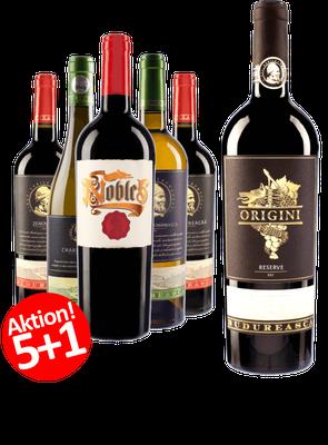 5-er Weinpaket | Budureasca MIX + 1 Gratis Flasche Origini Reserve Cuvee