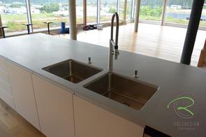 Kücheninsel mit 2 Unterbauspülbecken & Blancoculina-S