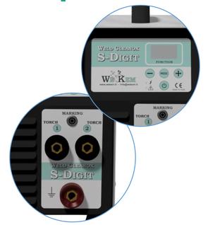 sistema elettrochimico inverter digitale 2 operatori contemporaneamente decapaggio saldatura inox