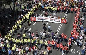 день трудящихся в Барселоне, 1 мая