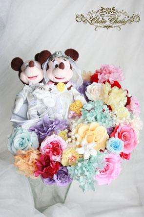 ディズニー プロポーズ 花束 ウェディング プリザーブドフラワー オーダー アンバサダー