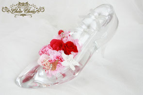 ガラスの靴 ディズニー プロポーズ シンデレラ 花 リングピロー 刻印 蝶