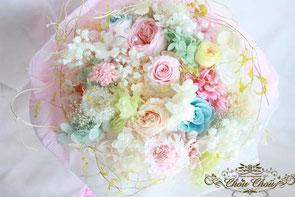 プロポーズ プリザーブドフラワーの花束 プロポーズリング フラワーリング 薔薇のリング オーダーフラワー chouchou シュシュ 浦安 舞浜