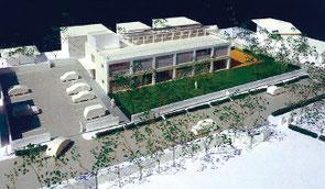 福祉避難所兼ふれあい交流施設の完成イメージ図(石垣市提供)