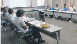 石垣市自然環境保全審議会の初会合が開かれた=10日午後、大浜信泉記念館