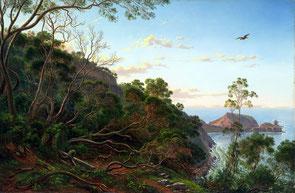 Tea_Trees near Cape Schanck Victoria - Eugène von Guérard Via Google Art Project