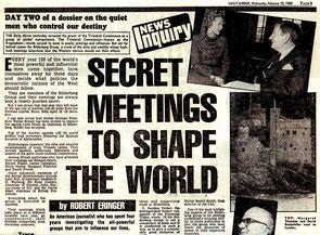 Zeitungsartikel Bilderberg