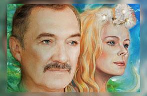 Gemälde mit Wladimir Megre und Anastasia (Arsen Kljan)