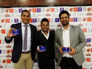 (l-r): WCC's Prafull S, Jagath B, Rohit G