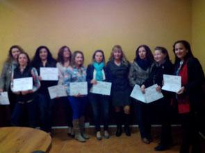 Entrega de diplomas del curso Fisioterapia Rehabilitadora