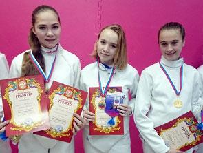 Команда девушек  города Выборга
