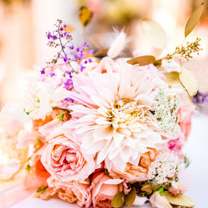 Hochzeitsfotografie in Celle - Brautstrauß mit Eheringen