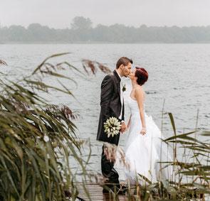 Hochzeitsstrauß mit Ringen Foto von FOTOFECHNER