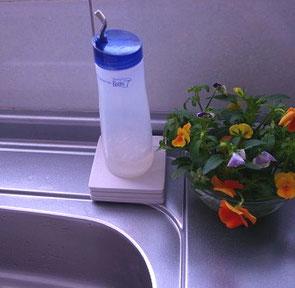 エネルギーグッズで食器洗剤にエネルギー充填
