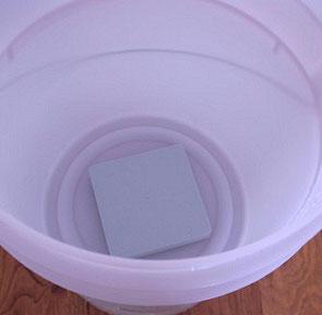 風呂用プレートで水をエネルギー化