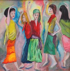 5 Frauen beim Tanzen