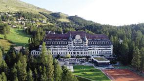 Switzerland, St Moritz, Skiing