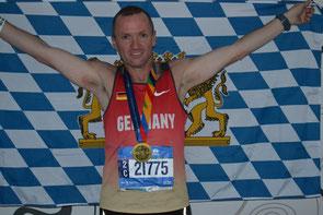 Glücklicher Finisher beim New York City Marathon: Roland