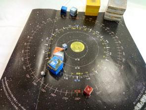 ペーパークラフト 太陽系儀