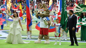 На церемонии открытия ЧМ-2018 / At the opening ceremony of the 2018 World Cup