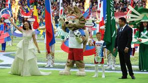На церемонии открытия ЧМ-2018 / At the opening ceremony of the 2018 World Cup