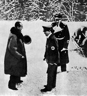 Бек Ю. и Гитлер А., Обергов, 1938 г.