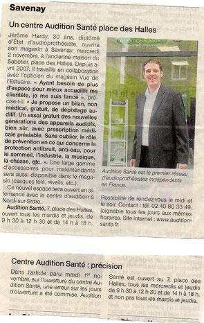 Ouest France annonce l'ouverture du centre d'audition