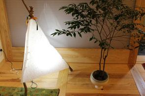 手漉き和紙(細川紙)の照明