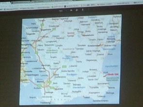 スゥエーデン南部の地図