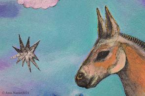 Peinture de l'artiste mongole Anu Naran (détail)