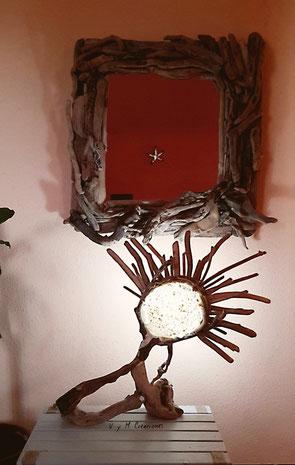 Decoración ecológica, vymcreaciones, vymcreaciones.com, maderas flotantes, decoración con palos, driftwood lamp, eco desing, lámpara madera, driftwood art