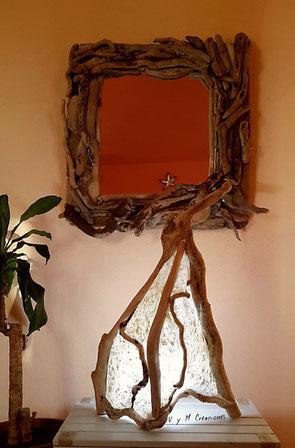 Decoración ecológica, maderas flotantes, decoración con palos, driftwood lamp, eco desing, lámpara madera, driftwood art, vymcreaciones.com, vymcreaciones
