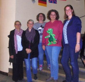 Der Vorstand 2017 (v.l.): Claudia Weber (1.Beisitzerin), Michaela Kuhl (2.Vorsitzende), Katharina Grunz (Kassiererin), Elena Giffels (1.Vorsitzende), Alexandra Krautkrämer (Schriftführerin). Es fehlt Christine Cevriz (2.Beisitzerin).
