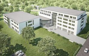 So soll der Neubau am Marien-Hospital in Hochfeld aussehen. Foto: Helios GmbH