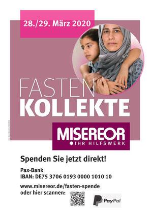 Plakat Misereor-Kollekte