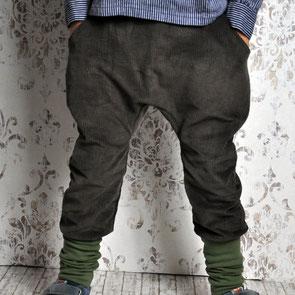 knickerbockerhose aus Cord in braun