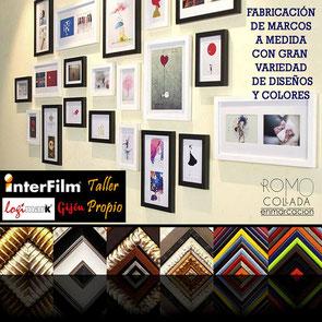 Enmarcación a medida en Interfilm Gijón LogiMark y Romo Collada