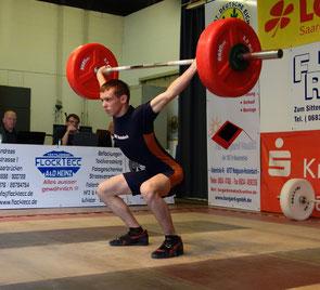 Julian Wilhelm bei seinem Wettkampfdebüt