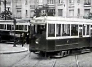 Tramway de Paris années 20-30 sur la chaussée