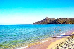 Cala Sinizia, Strand, Sardinien, Costa Rei, Italien, Die Traumreiser