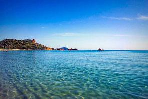 Cala Cea, Strand, Sardinien, Italien, Die Traumreiser