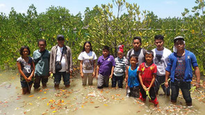 Tackling mangrove planting in cooperation with local residents in Abra Province, Northern Luzon Island